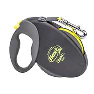 """Easy Walking"" Retractable Nylon Dog Leash with 2 Modes of Braking System for Small & Medium Size Breeds"