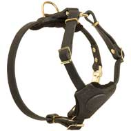 Small Adjustable Leather Dog Harness For Puppies