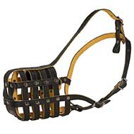 Everyday Ventilated Royal Leather Basket Dog Muzzle