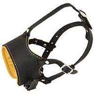 Leather Dog Muzzle for No-Bark Training