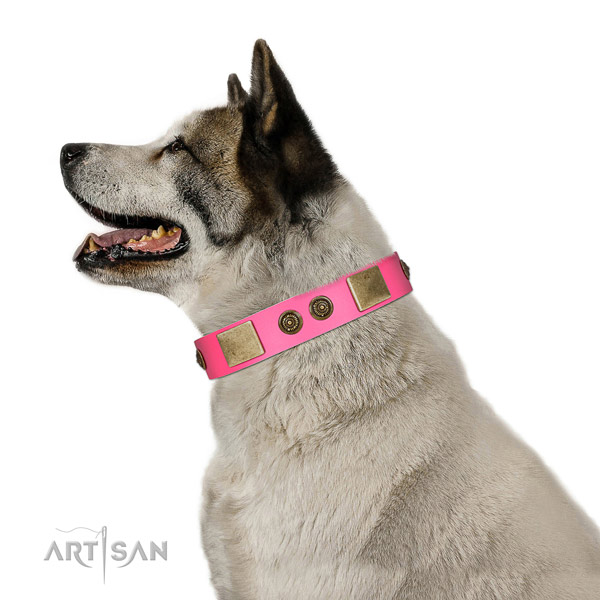 Top notch dog collar handmade for your impressive dog
