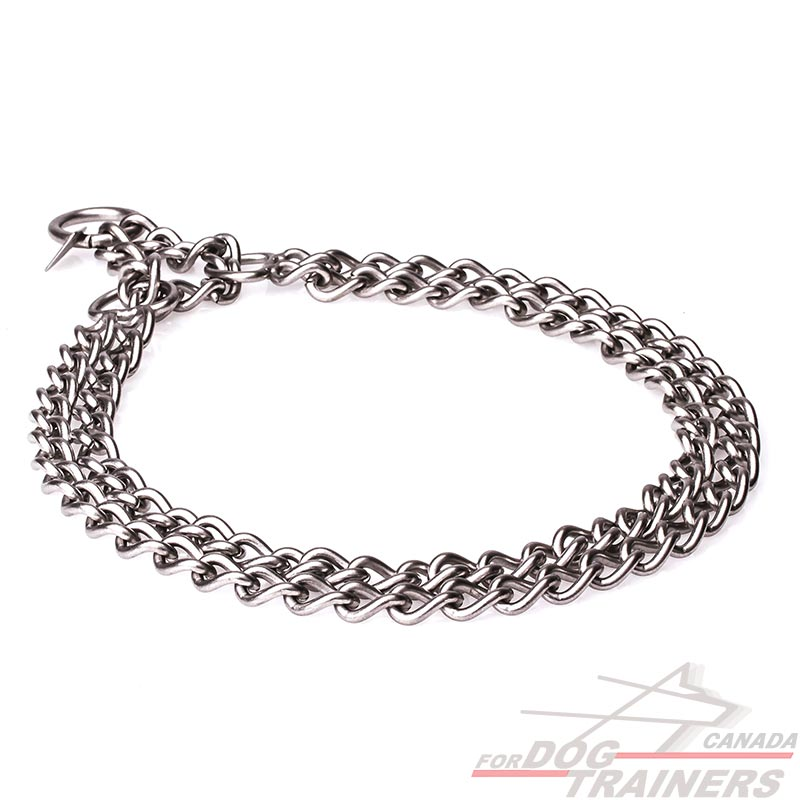 Buy Martingale Brushed Stainless Steel Dog Collar   Herm ...