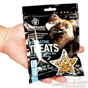 Dog treats for a toy