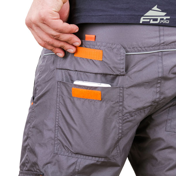 Convenient Design Professional Pants with Reliable Back Pockets for Dog Trainers