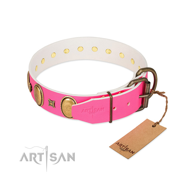Best quality leather collar made for your doggie
