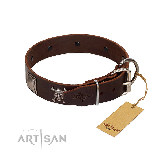 Fine quality full grain genuine leather collar for your lovely pet