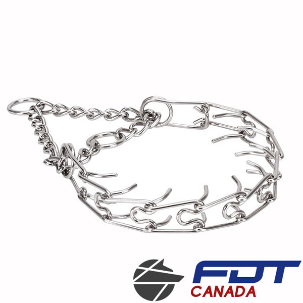 Prong collar of stainless steel for ill behaved dogs