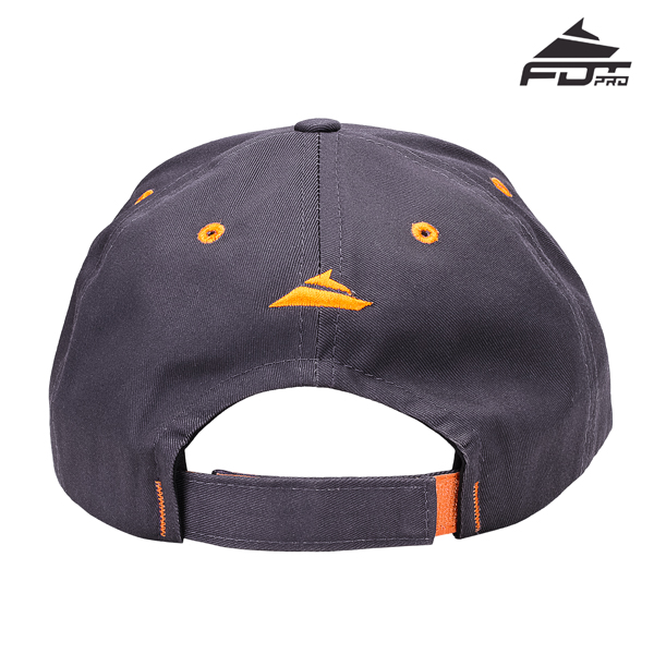 Easy to Adjust One-size Snapback Cap of Dark Grey Color for Dog Trainers