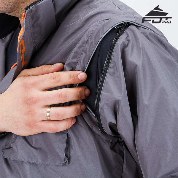 Strong Zipper on Sleeve for FDT Professional Design Dog Tracking Jacket