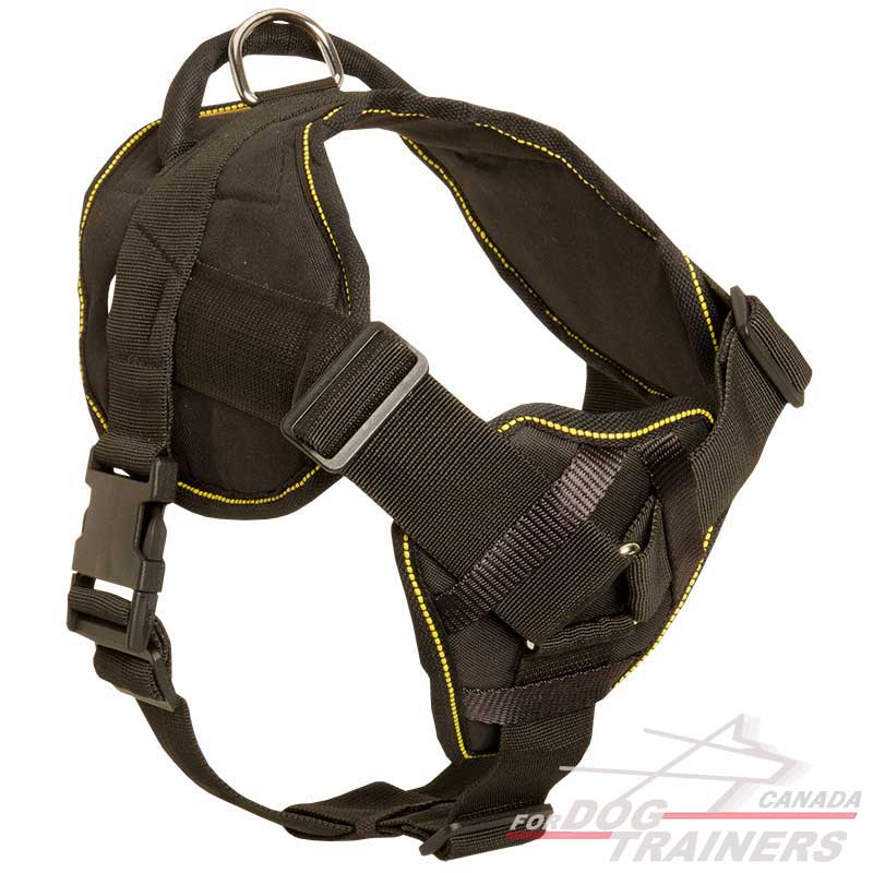 Get Strong Nylon Pulling Dog Harness With Handle Dog