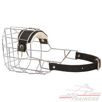 Wire Basket Dog Muzzle with Soft Felt Padding